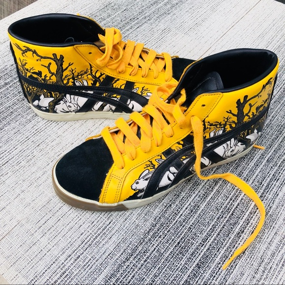 hot sale online 795ac 52f39 Black & yellow Tiger high-tops